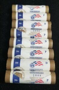 2009 P & D - Lincoln Bicentennial Cent - Complete 8 Mint Roll Uncirculated Set
