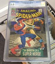 Amazing Spider-Man #42 - Marvel 1966 CGC 5.0 Mary Jane Watson's face revealed fo