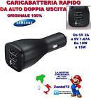 CARICABATTERIA RAPIDO EP-LN920BB DA AUTO SAMSUNG GALAXY S6 S7 EDGE NOTE 5 FAST
