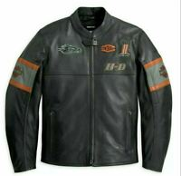 HD. Screaming Eagle Biker Real Cowhide Mild Cracker Leather Jacket Men
