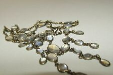 BEAUTIFUL, VICTORIAN, STERLING SILVER NECKLACE WITH NATURAL LUSH MOONSTONES