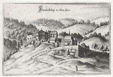 Unzmarkt, Frauenburg in Ober Steier, Ulrich von Liechtenstein, Kupferstich 1720