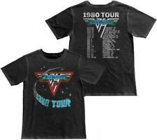 Van Halen Of Rock 1980 Tour Dates Vintage Tee shirt S-5Xl