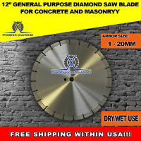12-Inch General Purpose Laser Welded  Diamond Saw Blade for Concrete & Masonry