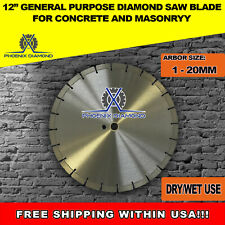 12-Inch General Purpose Laser Welded Diamond Saw Blade for Concrete /& Masonry