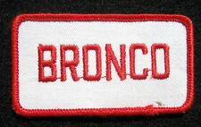 "BRONCO JEEP EMBROIDERED SEW ON PATCH AUTO CAR ~SUV ~ OJ SIMPSON 3 1/2"" x 1 7/8"""