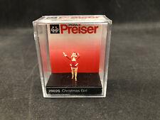 Preiser Christmas Girl 1:87 Ho Scale Figure 29026 New in Case Free Shipping