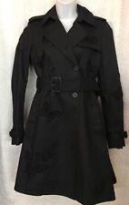 Valentino Raincoat Black Cotton  Beaded Butterfly's  Belt Size 4