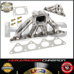 02-06 Mitsubishi Evolution Lancer Evo 4G63 T3 Turbo Manifold Stainless Header