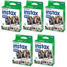 5 Packs 50 Instant Photos Fuji FujiFilm Instax Wide Film Polaroid Camera 210 300