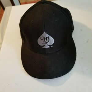 Miller Fortune Spade Snapback Hat, Black, Beer Collectible, Magic Headwear
