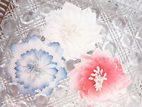 PRETTY Mix - 3 Flowers PINK WHITE & BLUE 80-85mm Manor House ConA