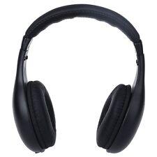 Wireless 5 in 1 Headset Headphones Cordless RF Mic for PC TV DVD CD MP3 MP4