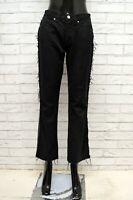 Pantalone GIANFRANCO FERRE Donna Taglia Size 27 Jeans Pants Woman VIta Alta Nero