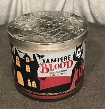 Bath and Body Works Halloween Vampire Blood 3 Wick Scented Candle 14.5 Oz New