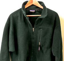 Vintage 1990's Patagonia Synchilla Men's Green Fleece Full-Zip Jacket L Large