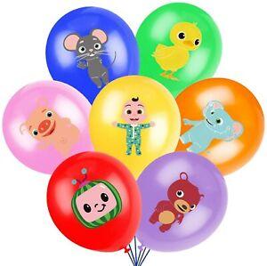 "10 X 12"" COCO Multi Colour Latex Printed Balloons Birthday Party, MELON"