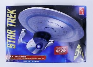 Star Trek U.S.S. EXCELSIOR Model Kit 1:1000 Scale By AMT--50th Year Anniversary