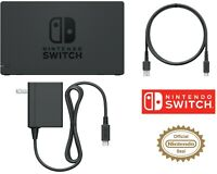 OEM Nintendo Switch Charging Dock + AC Adapter Power Cable OEM HDMI CABLE Set TV
