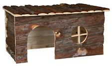 Jerrik House Natural Wooden Hut Hideaway for Guinea Pigs & Rabbits