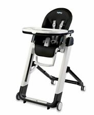 Peg Perego Siesta High Chair - Foldable, Reclining, Compact - Black Licorice