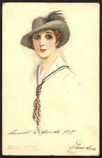 cartolina d'epoca-post card-illustratore MAUZAN-DONNINE,WOMAN,LADY DECO' 11