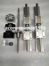2 X SBR16-600mm LINEAR RAIL & 4SBR16UU & 1x RM1605-665mm Ballscrew&1BF12/BK12set