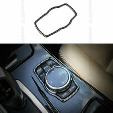 100% Carbon Fiber Multimedia Buttons Cover Trim For BMW 7 Series F01 F02 10-2015