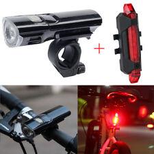 LED Fahrradbeleuchtung Fahradlampe Fahrrad licht Set Beleuchtung+USB Rücklicht