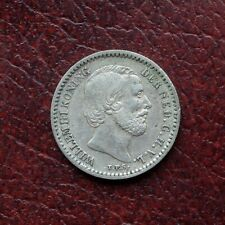 Netherlands 1890 silver 10 cents