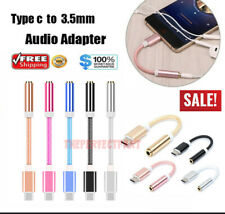 New USB-C Type C to 3.5mm Aux Audio Jack Passive Headphone Adapter Nylon Braided
