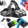 250000LM T6 LED Headlamp Rechargeable 18650 Headlight Head Torch Flashlight Lamp