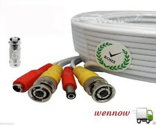 200ft BNC Video and Power Extension Cable with Connector for Security Camera