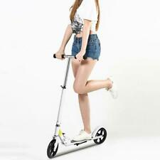 Adult Foldable 3 Levels Adjustable Height 2-Wheel Push Scooter Outdoor Stable