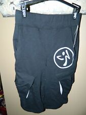 Zumba Cargo Back To Black XSuave Mens Shorts Z2B00071 Size X Small