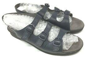 SAS Tripad Comfort Blue 3 Strap Buckle Slingback Sandal Shoes  Women Sz 10.5 S