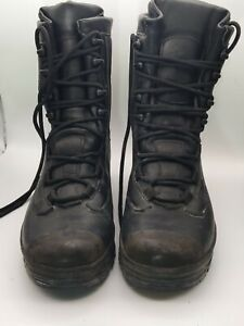 BLACK ALTBERG LEATHER HIGH  COMBAT BOOTS AIRWALK SOLES  - 8 1/2 med British Army