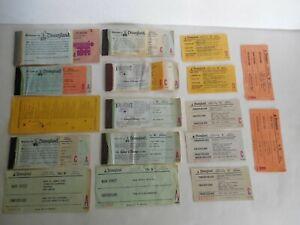 Vintage Disneyland Lot of Ticket Book & Loose A B C D Coupon Disney