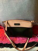 Kate Spade Jeanne Soft Pink & Black Leather Dome Zip Shoulder Bag Cross Body