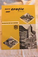 MAGAZINE NOTRE TRAFIC  N°269 AOUT 1969