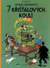 Tintin Les Sept Boules de cristal 7 Hergé album Tchèque CZECH langue Edition