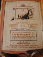 Ginnie Thompson Sampler Counted Cross Stitch Pattern Christmas 1932 Reproduction