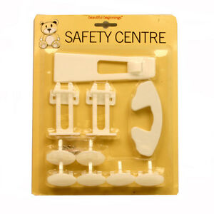 NEW BEAUTIFUL BEGINNINGS 10PC BABY HOME SECURITY SAFETY CENTRE FOR BABY PROOFING