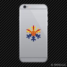 Arizona Snowflake Cell Phone Sticker Mobile AZ snow flake snowboard skiing skii