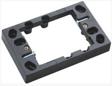 BLACK SHALLOW MOUNTING BLOCK 18mm thin for powerpoint switch gpo outlet socket