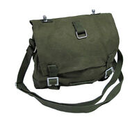 Olive Green Military Style Canvas BREAD BAG - Cotton Army Shoulder Bag Satchel