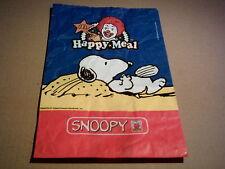 Ⓥ Sammlerstück - McDonald's Snoopy Happy-Meal-Tüte - rar - ungefaltet Peanuts Ⓥ