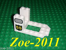 Lego White Cockpit 7x4x3 with Grille and 55 Pattern NEW!!!