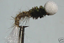 10 x Mouche peche Chironome Lièvre Emergente H12/14/16 fly truite trout
