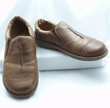 Vtg Born Women sz 10M Slip-on Cap Toe Casual-Textured Sole-Brown Leather Shoe